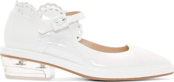 Simone Rocha White Patent Leather Mary Janes