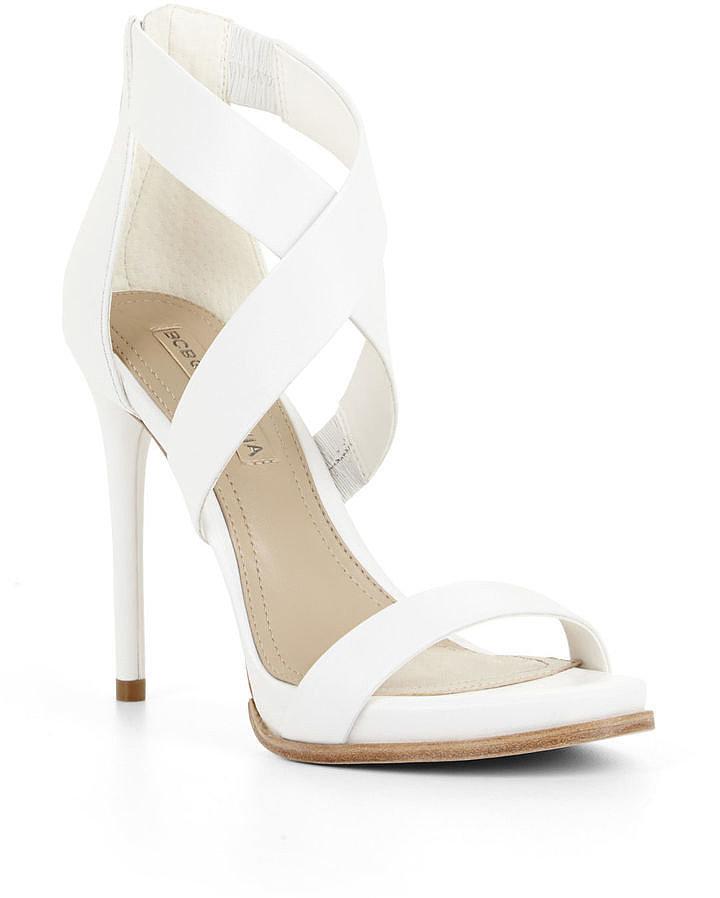 BCBG Max Azria Elyse High-Heel Crisscross Ankle Day Sandal