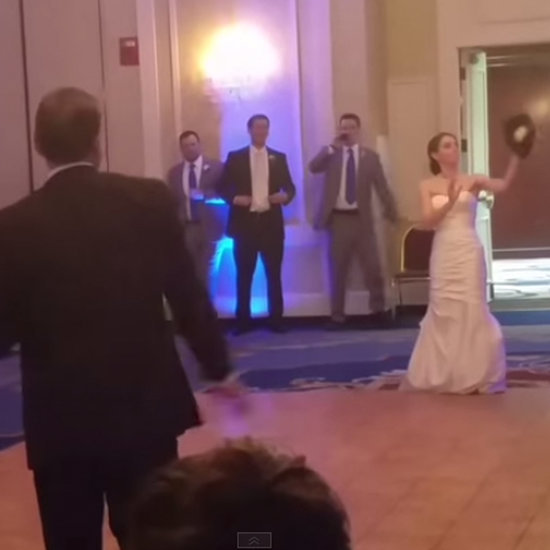Dad Interrupts Father-Daughter Dance to Play Catch