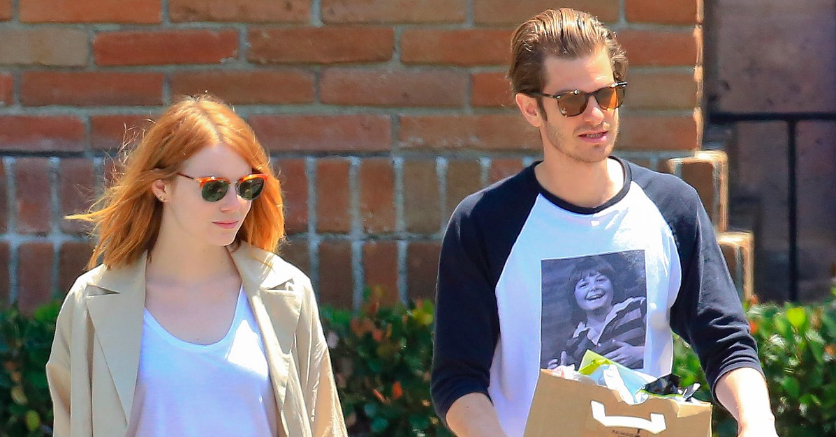 Emma Stone and Andrew Garfield Grocery Shopping in LA ...