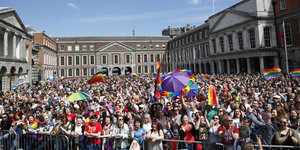Rainbows Form Over Dublin As Ireland Votes To Legalize Gay Marriage