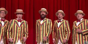 Sting Makes Surprise Appearance With Jimmy Fallon's Ragtime Gals