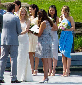 Rachel McAdams at her sister's wedding in Ontario