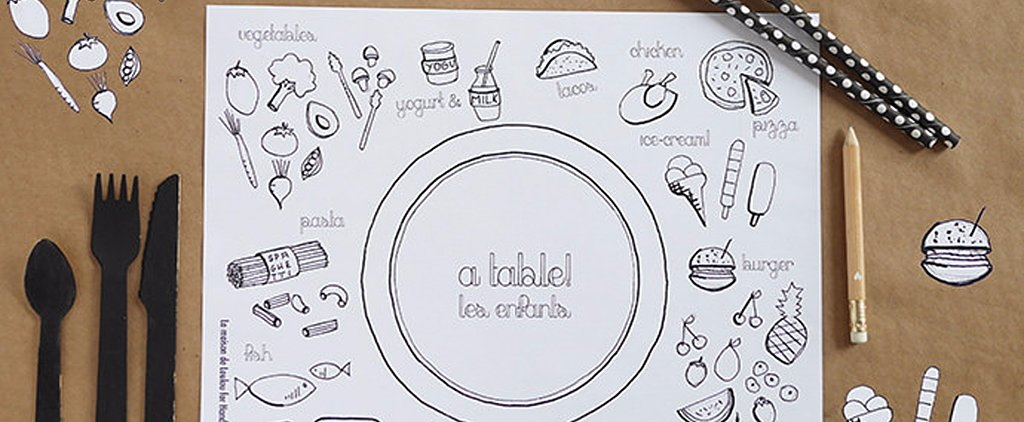 Make Mealtime More Fun With DIY Coloring Place Mats