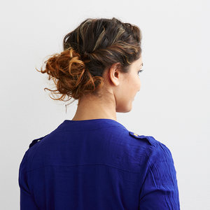 Easy Up Style For Curly Hair