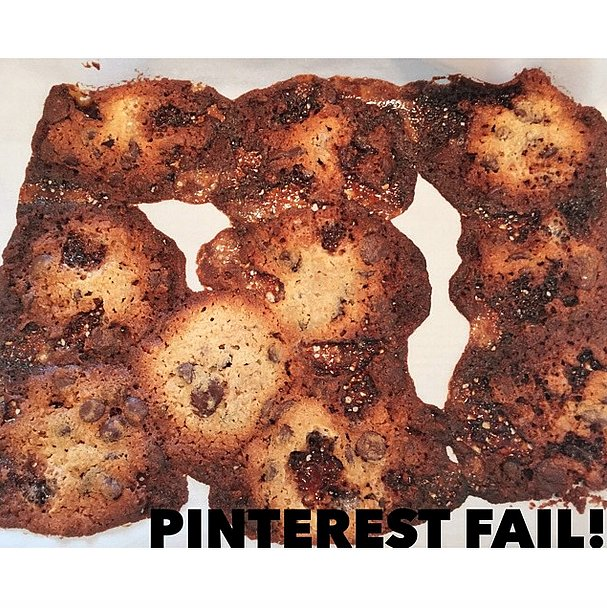 When your s'mores cookies bleed and burn.