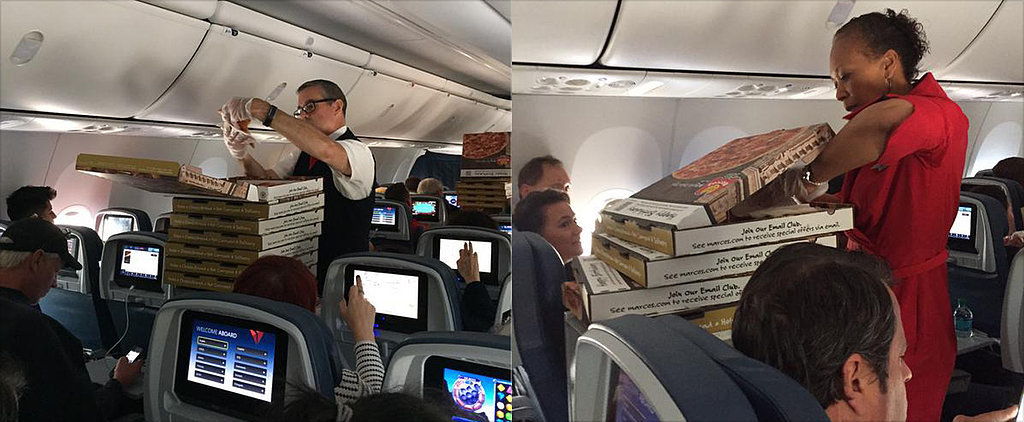 Delta Flight Crews Organize Pizza Parties For Stranded Passengers