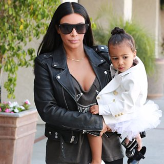Kim Kardashian and North West Going to Dance Class