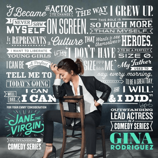 Gina Rodriguez Emmy Campaign Photo