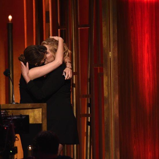 Tina Fey and Amy Schumer Kissing at Peabody Awards