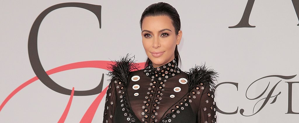 Kim Kardashian's Dress Caught on Fire Last Night
