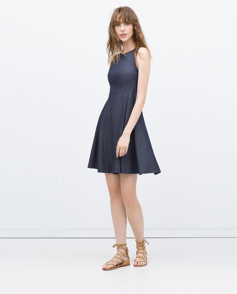 Zara Flared Denim Dress