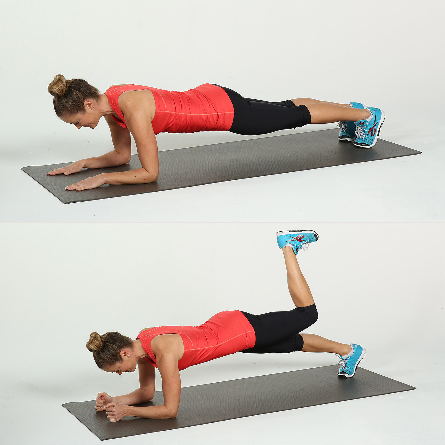 Low plank from elbows