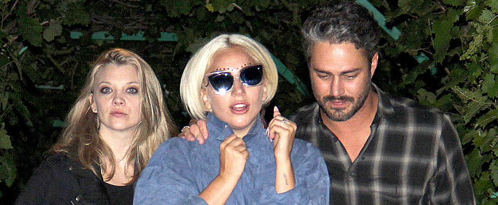Lady Gaga and Taylor Kinney Cuddle Up on a Cute Dinner Date