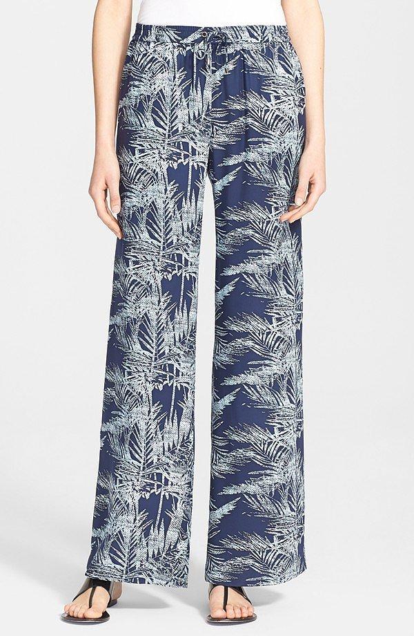 Parker 'Nile' Print Silk Pants ($220)