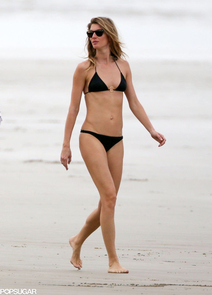 She hit the beach in a bikini during a December 2014 Costa Rica vacation.