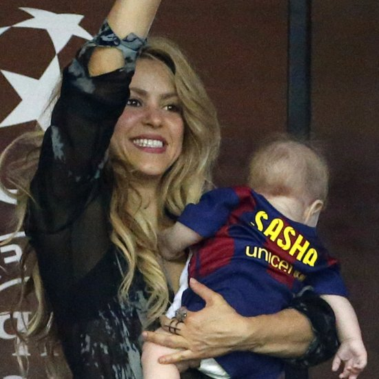 Shakira Cheers For Gerard Pique at Champions League
