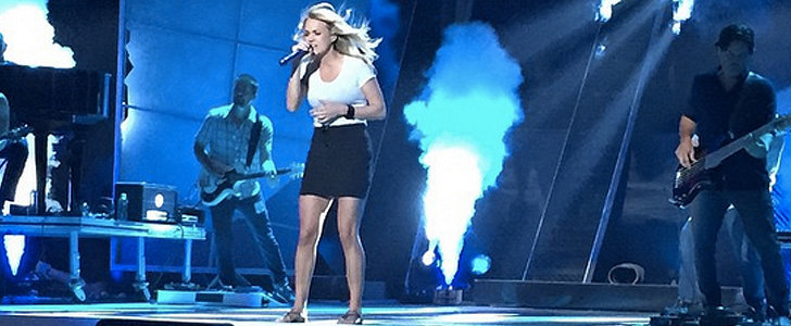 A Stunning Carrie Underwood Belts It Out Before the CMT Awards