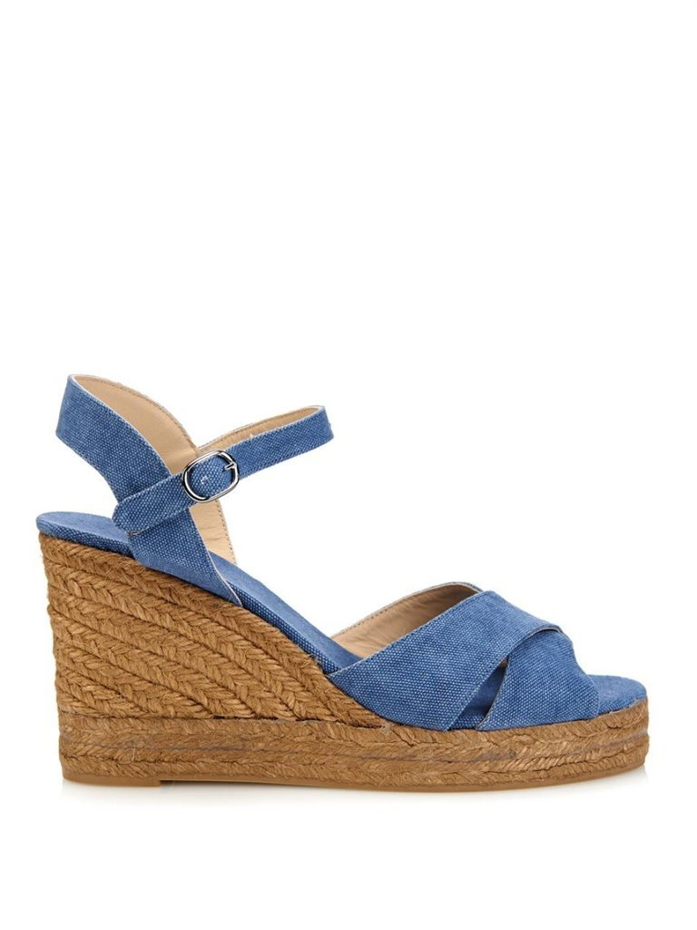 Castaner Washed-Canvas Espadrille