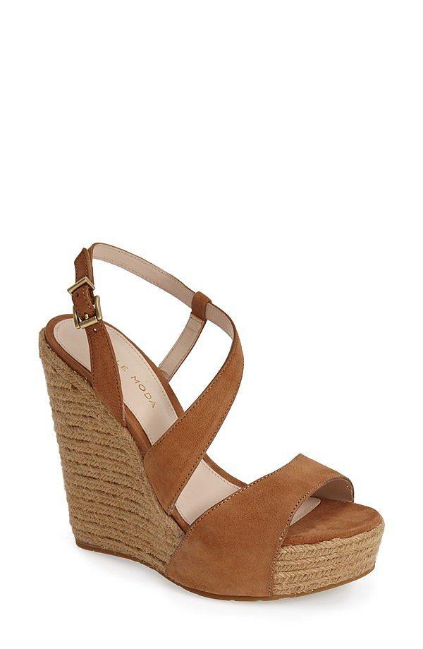 Pelle Moda Espadrille Wedge Sandal