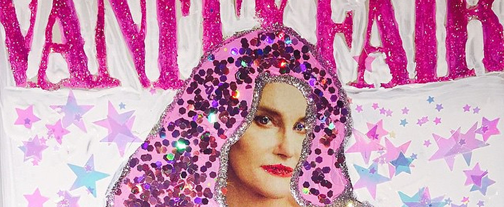 Miley Cyrus Turns Caitlyn Jenner's Vanity Fair Cover Into a Sparkly Piece of Art