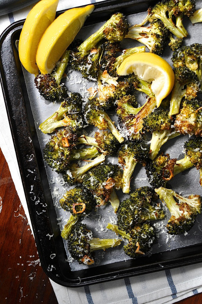 Get the recipe : roasted broccoli with garlic, lemon, and parmesan [11 ...