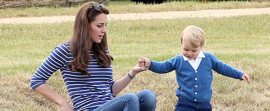 Prince George Gets Adorable With Kate Middleton at His Dad's Polo Match