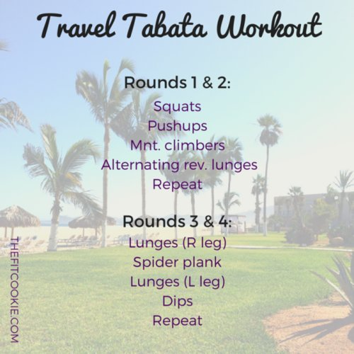 Travel tabata workout