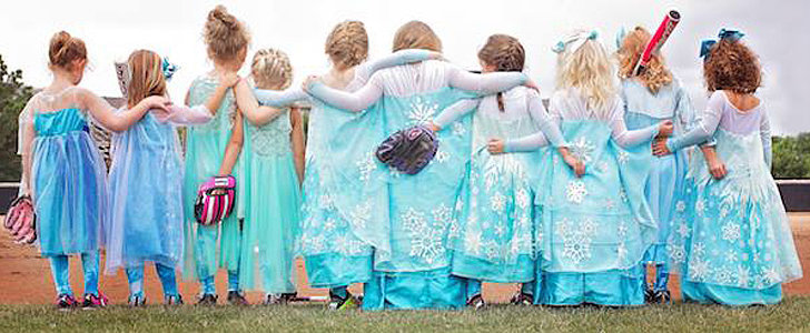 This Girls' Frozen-Inspired Softball Team Photo Is Internet Gold