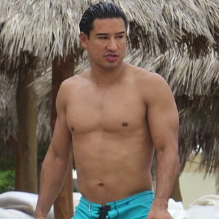 Shirtless Mario Lopez in Puerto Vallarta