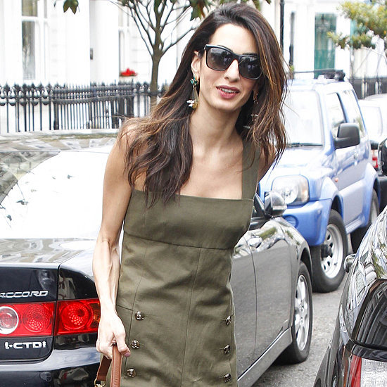 Amal Clooney Wearing Green Jumpsuit in London
