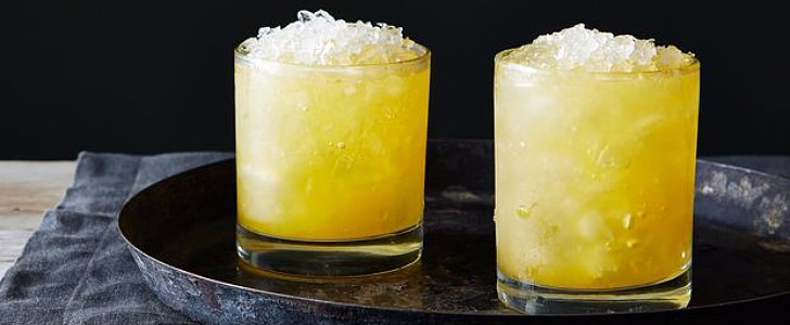Bourbon, Orange, and Ginger Equal Slushy Heaven