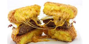 The Deep-Fried Scrambled Egg Bun Burger