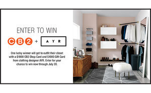 WIN! A Super Chic $2000 CB2 x AYR Closet Makeover