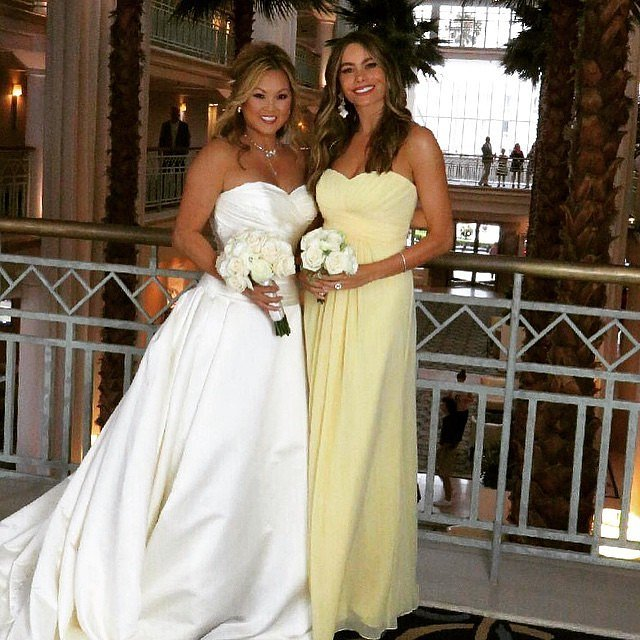 Sofia Vergara acted as bridesmaid for her friend in June 2015.