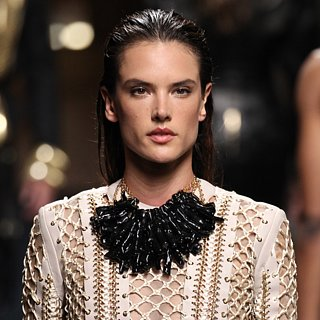 Alessandra Ambrosio Walks Balmain Men's Fashion Show