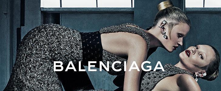 Kate Moss and Lara Stone Heat Up Balenciaga's New Campaign