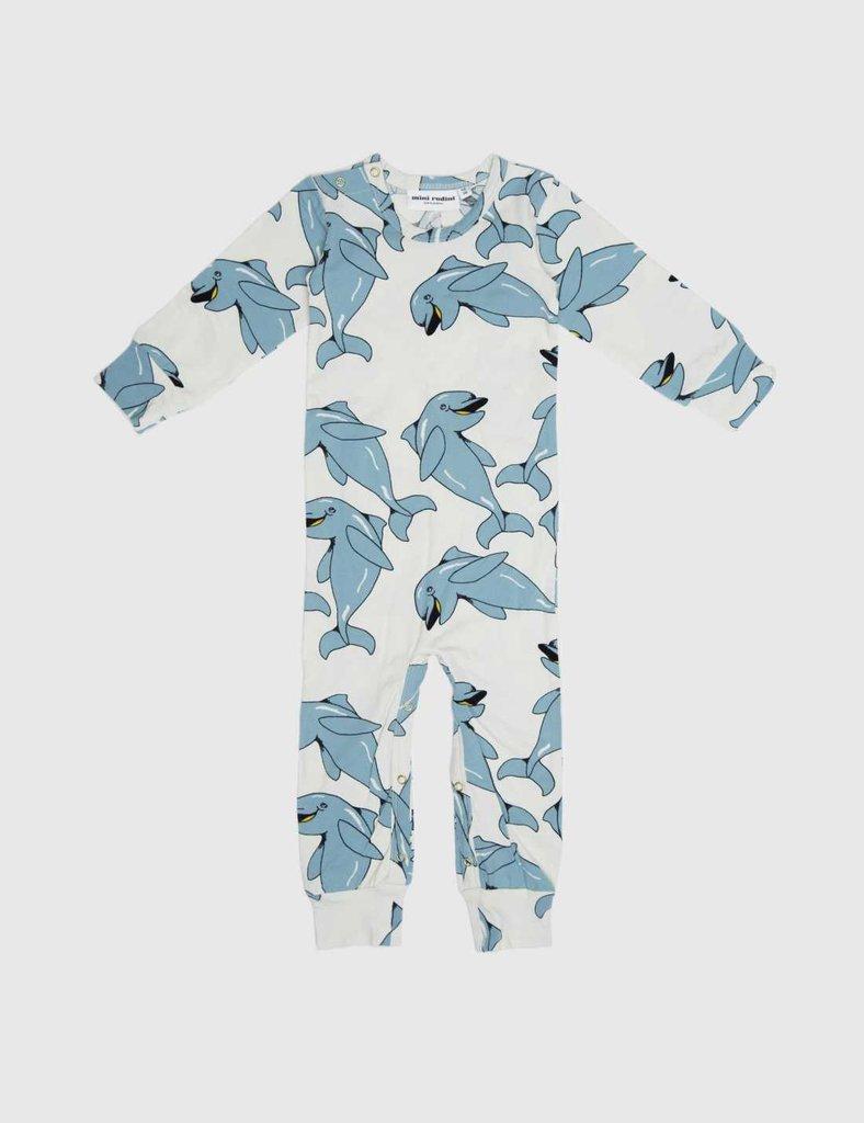Dolphin-Print Jumpsuit