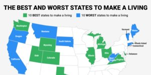 The best and worst states to make a living in 2015