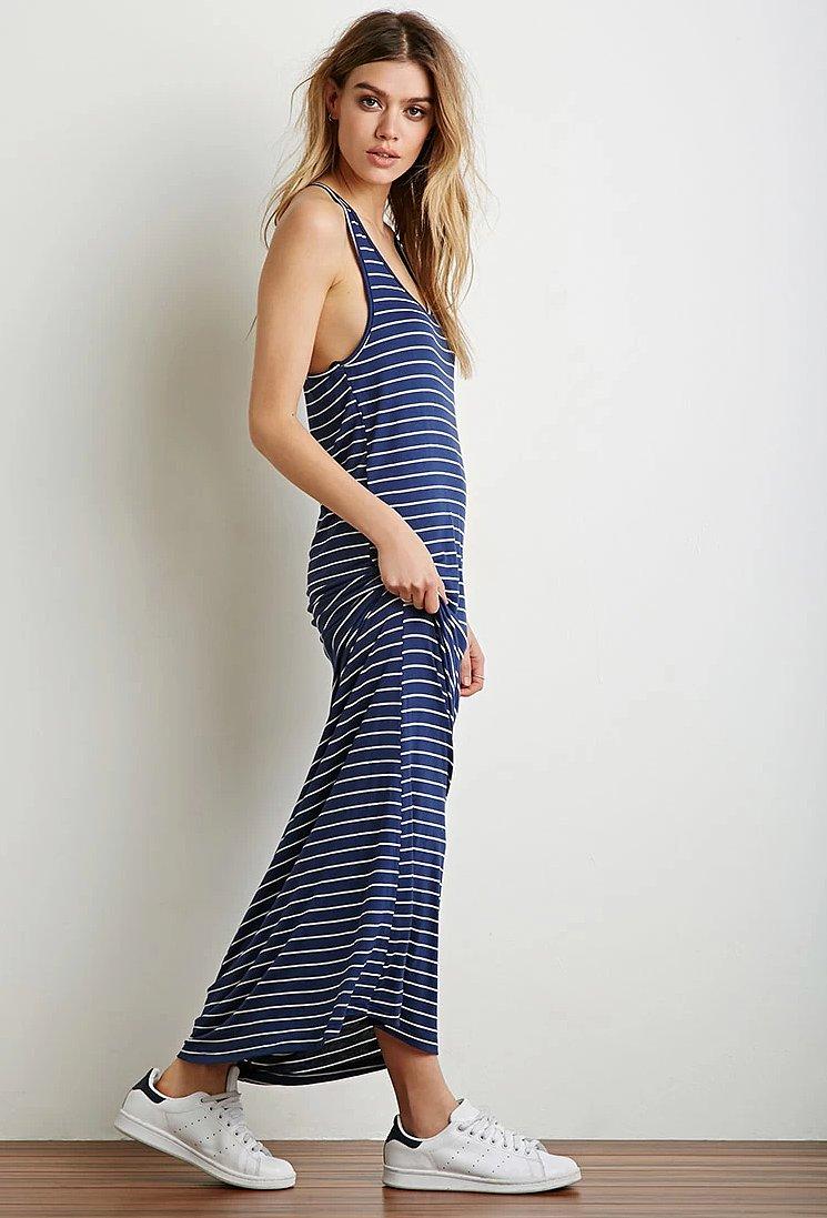 Forever 21 Stripe Racerback Maxi Dress