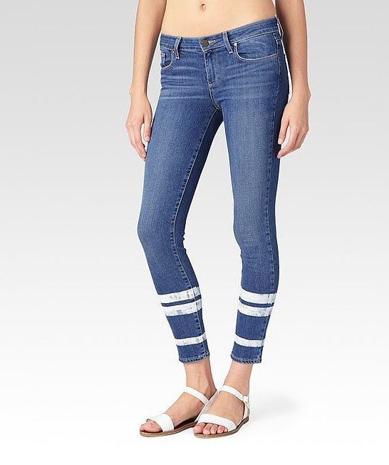Paige Striped Skinny Jeans