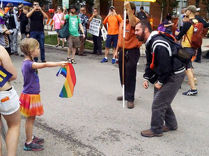 Little Girl Calmly Stands Up to Homophobic Preacher, Is Probably Our Future President