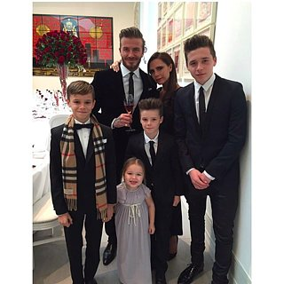 Victoria and David Beckham Family Anniversary Pho