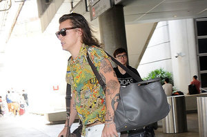 Harry Styles Arriving At LAX