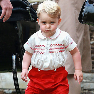 Pictures of Prince George at Princess Charlotte Christening