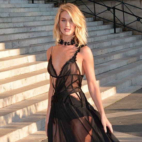 Rosie Huntington-Whiteley's Sexy Black Versace Dress