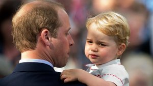 Prince George Was An Adorably Fussy Sad Little Monarch at Princess Charlotte's Christening