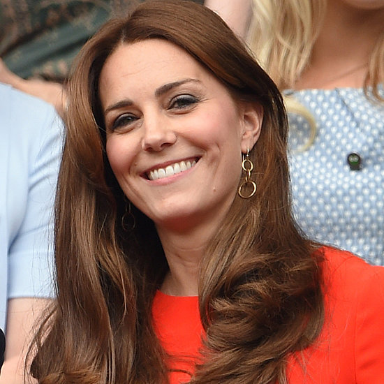 Kate Middleton Wearing a Red Dress at Wimbledon