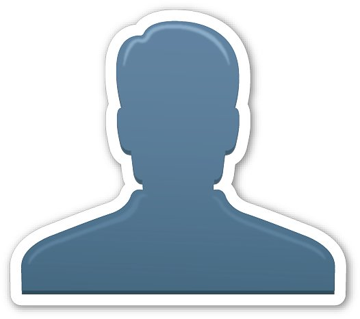 "Interpretation: ""I'm going to say something incriminating but you can't ever tell people it was me.""  Name + meaning: Bust in Silhouette. Generic profile of one person — often used in interface design to represent a user. Also known as: User emoji; silhouette emoji"