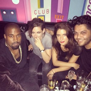 Picture of Kristen Stewart and Kanye West Together in Paris